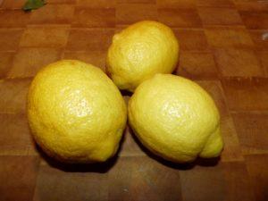 citrons pour gommage pour le visage