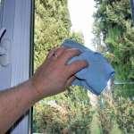 chiffons en microfibres pour les vitres