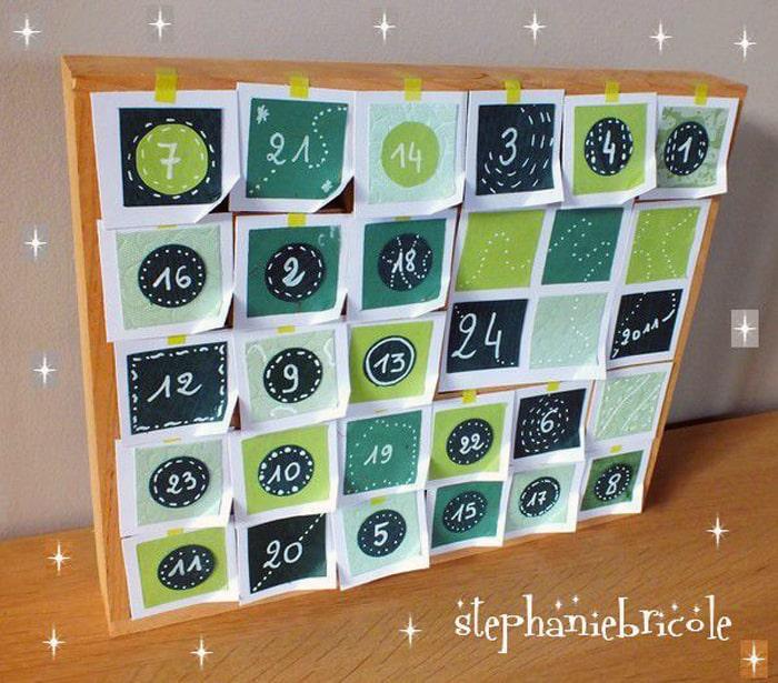 Et si vous faisiez votre calendrier de l'avent ?
