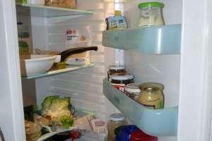 intérieur d'un frigo