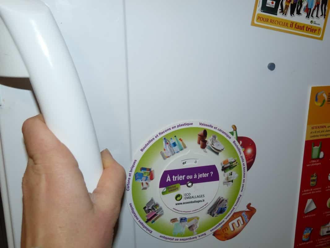 porte d'un frigo