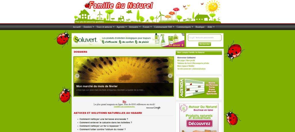 Famille Au Naturel a 1 an
