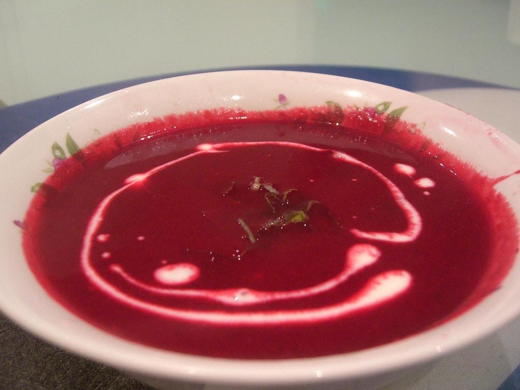 La soupe à la betterave