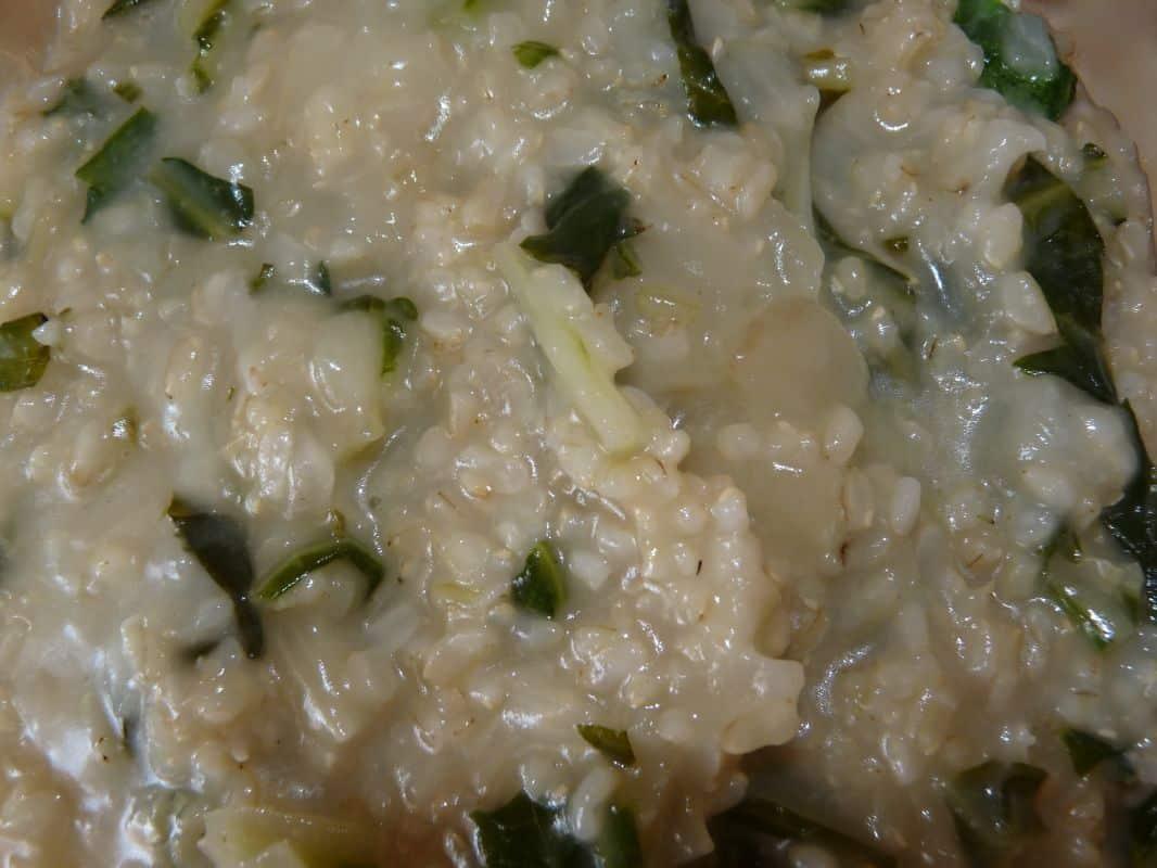 Risotto de blettes au riz complet