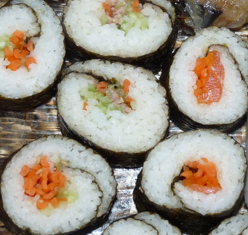 Makis et califonia rolls maison