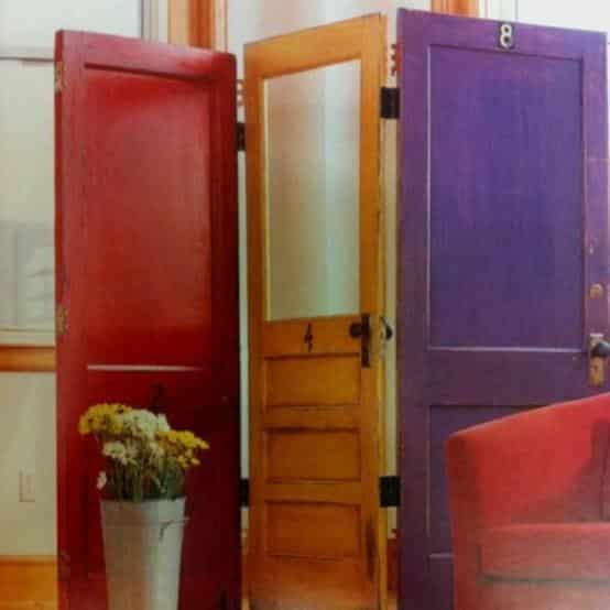 Reycler de vieilles portes en paravent