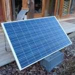 panneau solaire pour la  maison bioclimatique