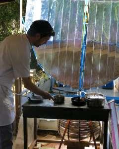 cuisson solaire pour le présage, restaurant solaire