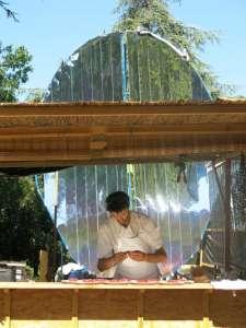 restaurant solaire et cuisson solaire